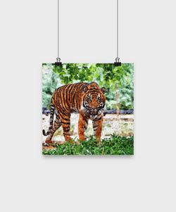 Tiger Painting - Oil Painting style print - Great Gif - Uncle Seal