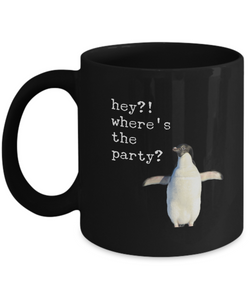 Funny Penguin - Coffee Mug Black design - Uncle Seal