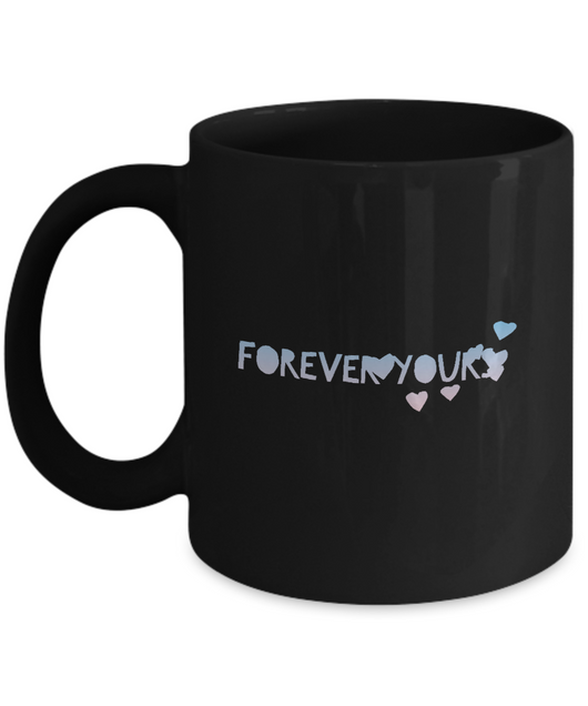 Forever Yours - Coffee Mug Black designed - Uncle Seal