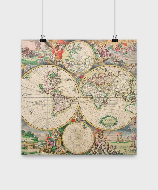 Ancient World Map poster - Uncle Seal