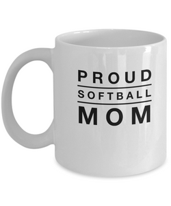 Proud Softball Mom - Coffee Mug - Uncle Seal