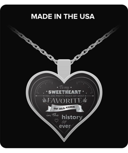 Girlfriend Jewelry - To My Sweetheart - Silver Heart Necklace - Wife Pendant - Uncle Seal