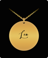 Leo Pendant - Name Necklace - Personalized Charm Gift - Gold plated Plated/Stainless Steel - Lovely Present - Uncle Seal