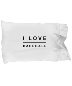 I love Baseball - White Pillow Case - Uncle Seal