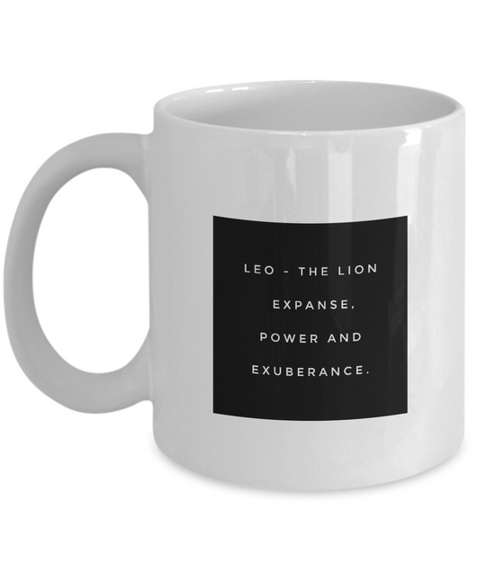 Zodiac Signs Coffee Mug - Leo design - Uncle Seal