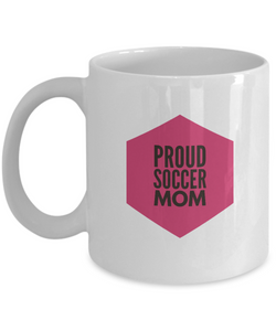 White Coffee Mug- Proud Soccer Mom - Uncle Seal