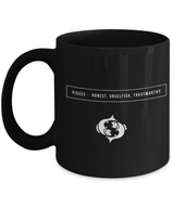 Pisces Zodiac Signs Coffee Mug -  Black - Uncle Seal