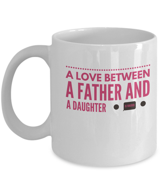 Love between father and daughter - Coffee mug Pink - Uncle Seal