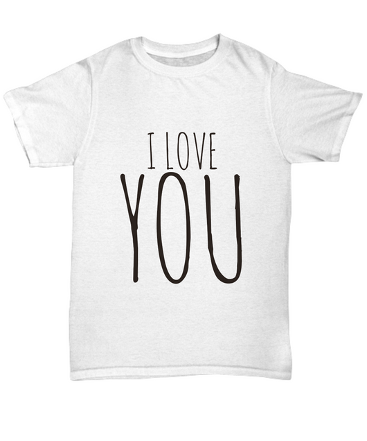 I love you design - White Tshirt - Uncle Seal