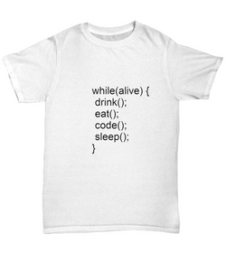 Funny Coders White Tshirt - Perfect gift for programmers - Uncle Seal