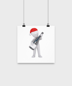 Santa guitar player Poster - Uncle Seal