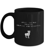 Zodiac Signs with slogan Coffee Mug design- Aries - Uncle Seal