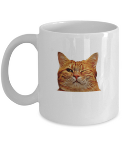 Blink Cat - Coffee Mug Funny wink - Uncle Seal