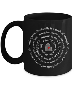 Family Inspiration Art mug Design Black - Uncle Seal