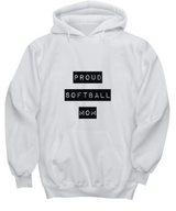 Proud Softball Mom - white Hoodie - Uncle Seal