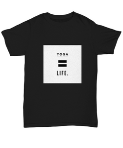 Life is Yoga - Black Tshirt - Uncle Seal