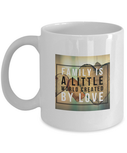 Family love design - White Coffee Mug - Uncle Seal