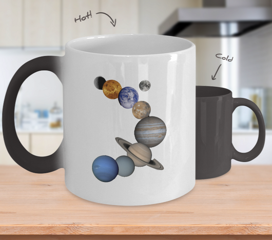 Solar System Design - Coffee Mug Color Changing with Hot % Cold - Uncle Seal