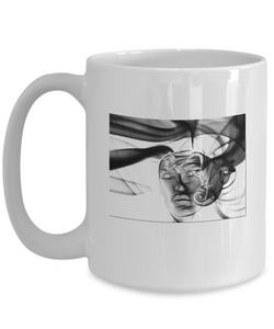 Abstract Woman Design - White Coffee Mug 15oz - Uncle Seal