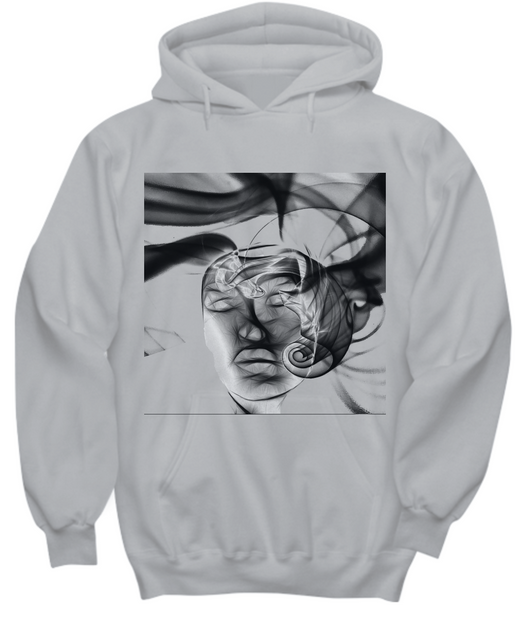 Abstract Woman Design - Gray Hoodie - Uncle Seal