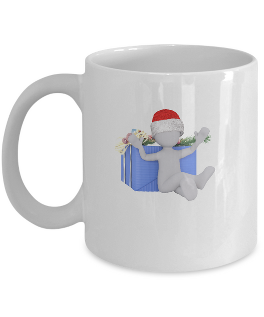 Christmas Present - Coffee Mug White - Uncle Seal