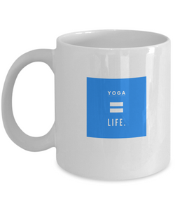 Life is Yoga - White Coffee Mug - Uncle Seal
