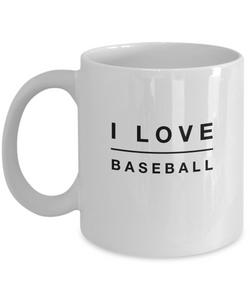 I love BaseBall - White Coffee Mug - Uncle Seal