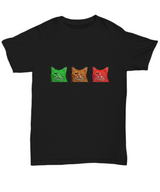 Blinking Cats - Tshirt Black - Uncle Seal