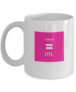 Life is Yoga - White Mug - Uncle Seal