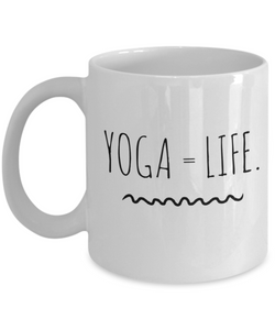 White Mug - Life is Yoga - Uncle Seal