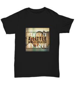 Family love design - Black Tshirt - Uncle Seal