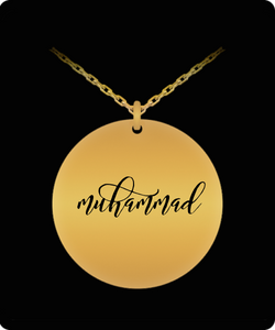 Muhammad Pendant - Name Necklace - Personalized Charm Gift - Gold plated Plated/Stainless Steel - Laser Engraved - Lovely Present