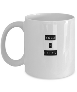 White Coffee Mug - Yoga is life - Uncle Seal