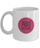 Proud Soccer Mom - White logo Coffee Mug - Uncle Seal