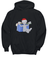 Christmas Present - Black Hoodie - Uncle Seal