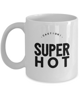 Caution Super hot - Coffee Mug Black white - Uncle Seal