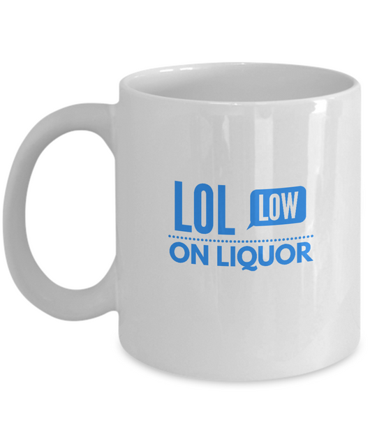 Lol Coffee Mug White Blue - Uncle Seal