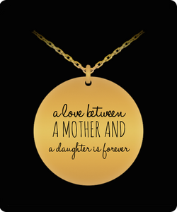 Mother Daughter Necklace - Love Jewelry Pendant - Gold plated Plated Chain Charm - Great Gift From Mother - Uncle Seal