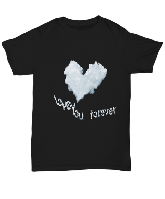 I love you cloud - Black Unisex Tshirt - Uncle Seal