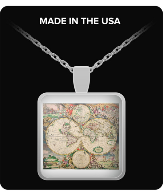 Gothic World Map Necklace - Uncle Seal