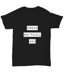Proud Softball Mom - Black Woman T shirt - Uncle Seal