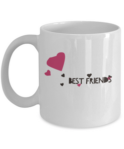 Best Friend Coffee Mug - Perfect for birthday - 11oz - Cute Hearts Design - Uncle Seal