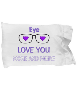 Eye Love you more and more Pillow Case - Uncle Seal
