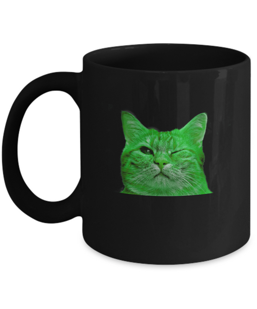 Blink Cat - Coffee Mug - Uncle Seal