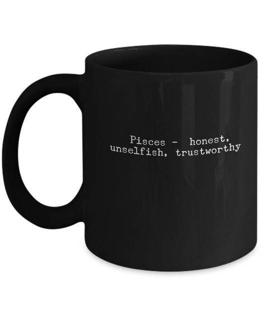 Zodiac Signs Coffee Mug - Pisces Black - Uncle Seal