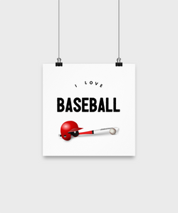 I love BaseBall - poster small - Uncle Seal