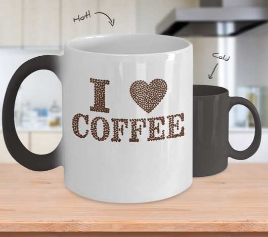 I love Coffee - Mug Color Changing - Uncle Seal