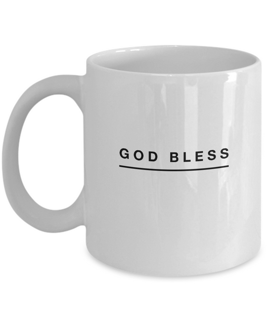 God Bless - White Coffee Mug - Uncle Seal