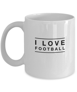 I love Football - White Coffee Mug - Uncle Seal