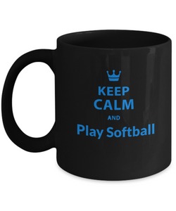 Keep Calm and play Softball - Coffee Mug - Uncle Seal